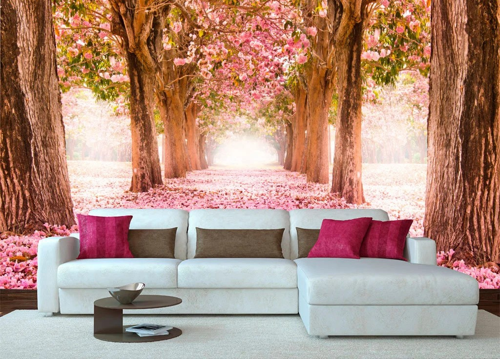 "Items Similar To Mural ""Spring Forest"". XXL Wall Decor"