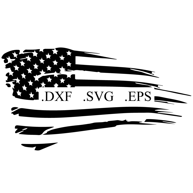 Distressed American Flag Vector Cut File