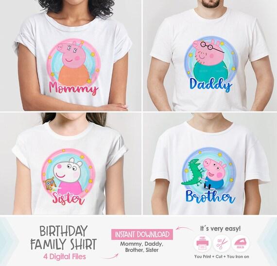 Peppa Pig Family Shirts Peppa Pig Birthday Shirt Mommy Etsy