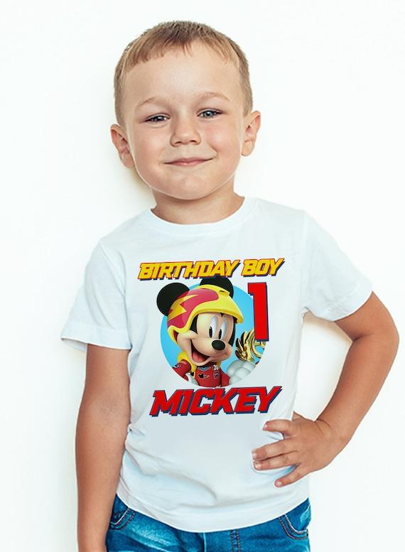 Mickey And The Roadster Racers Birthday Shirt Custom Mickey Etsy
