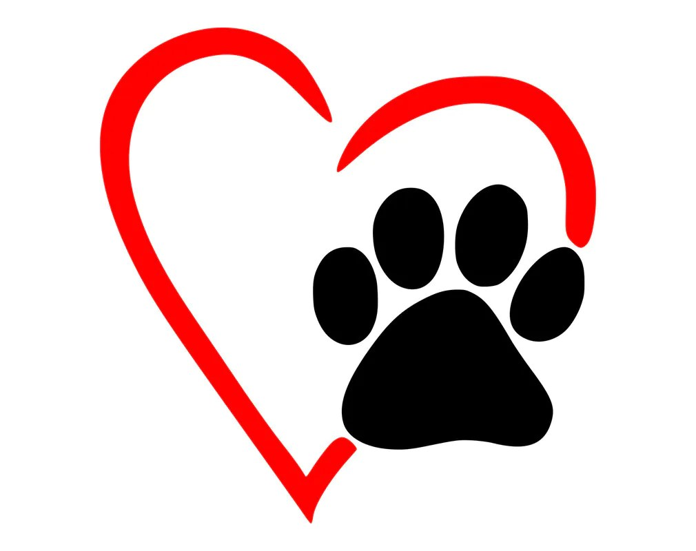 Download Free Svg Heart Paw / Dog Pawprint On A Heart Svg Png Icon ...