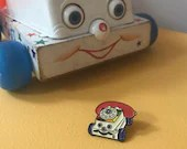 Vintage Pin Club - Pull Along Phone Toy Enamel Pin Badge