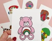 Vintage Retro Toy CARE BEAR Print Postcard Post Card