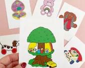 Vintage Retro Toy TREE HOUSE Print Postcard Post Card