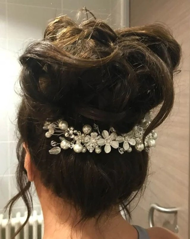 bridal headpiece bridal hair comb crystal pearl hair accessory wedding hair comb bride bridesmaid