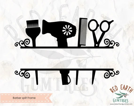 Download Barber split frame blow dryer SVG PNG DXF Eps Pdf cricut ...