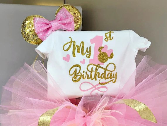 Minnie Mouse Birthday Outfitminnie Mouse 1st Birthday Etsy