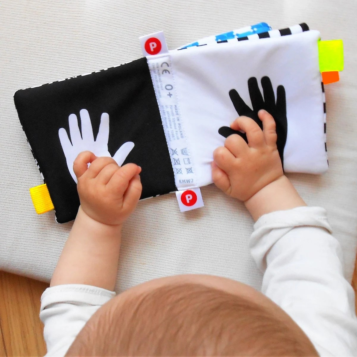 HIGH CONTRAST BABY Soft Activity Baby Book Baby Shower Gift image 1