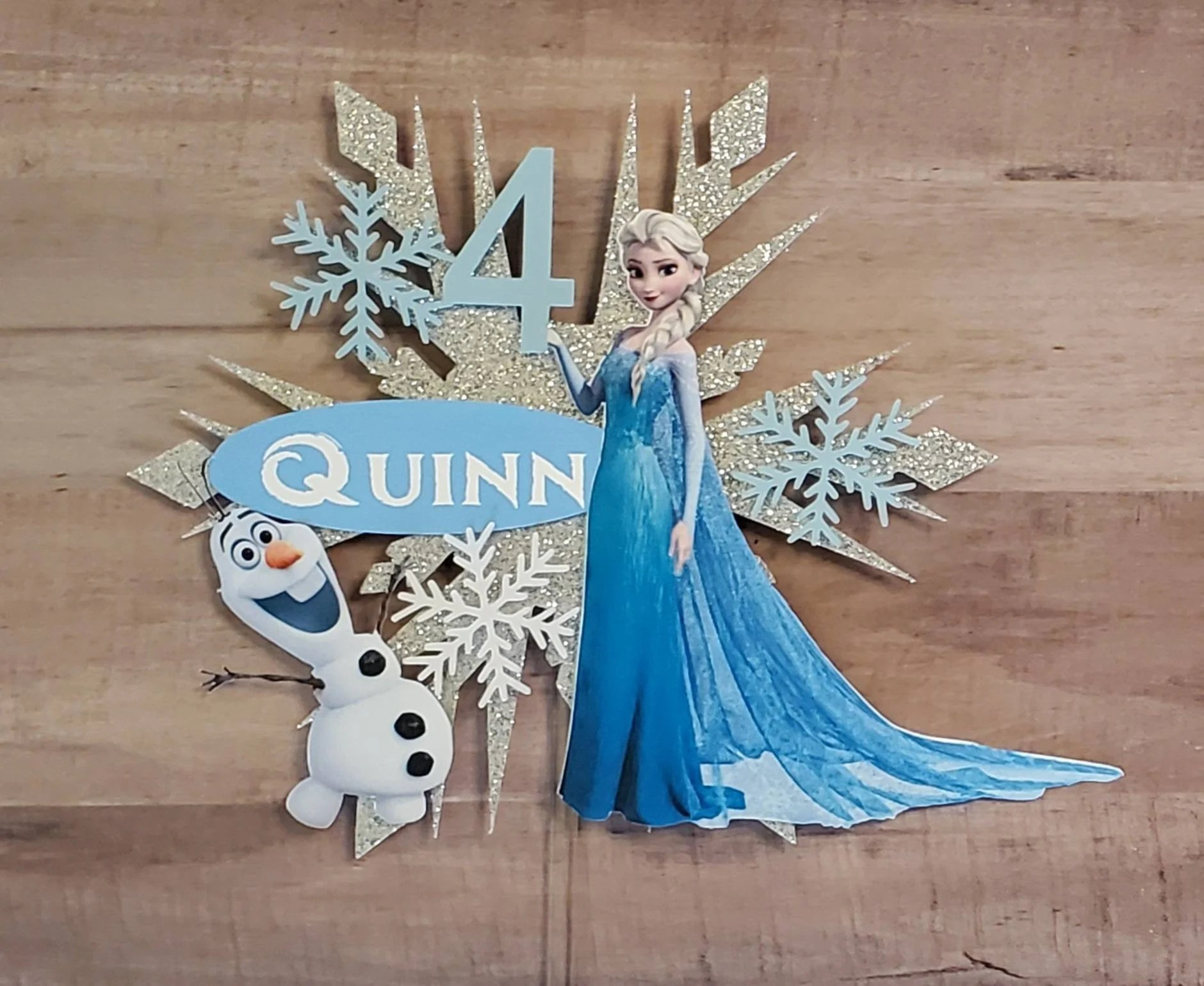 Frozen Cake Toppers Etsy