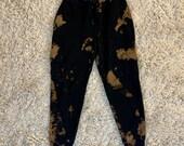 Bleach Tie Dyed Black Victoria's Secret PINK Joggers