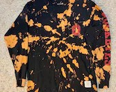 Ohio State Buckeyes Upcycled Tie Dye Long Sleeved T-Shirt