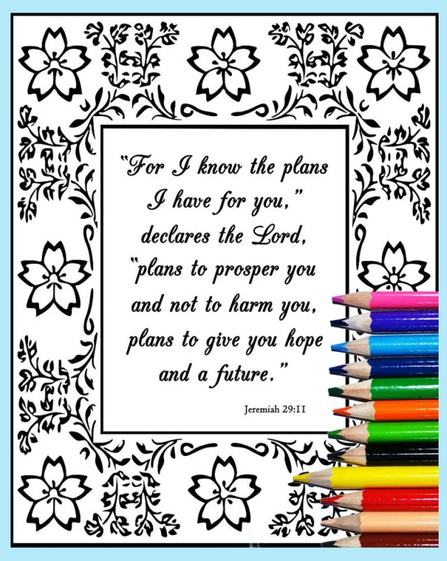 Printable Bible Verse Coloring, Jeremiah 19:19, Scripture Coloring Page,  Christian SVG files, Christian Art,Psalms Coloring,Mindful Coloring