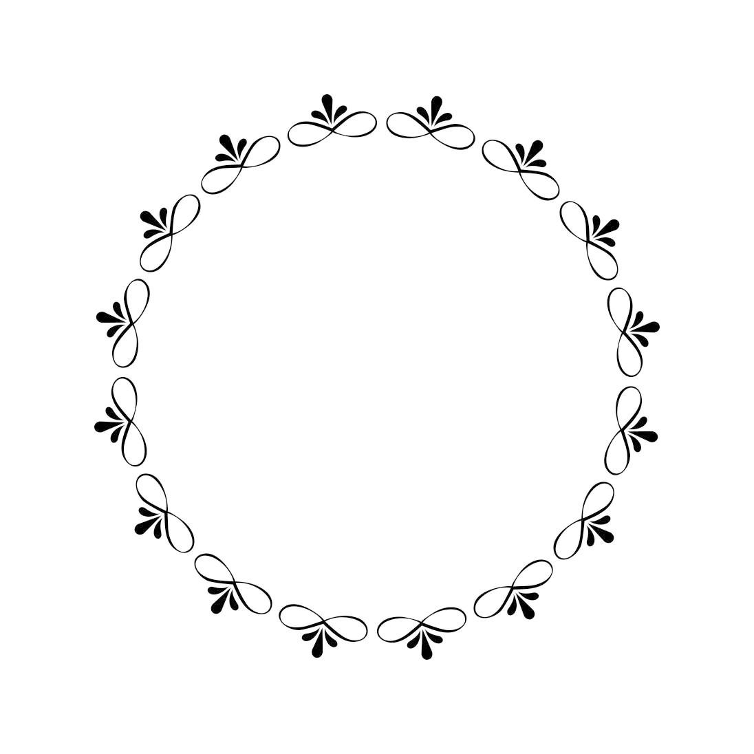 Vintage Frame Circle Monogram Graphics Svg Dxf Eps Cdr