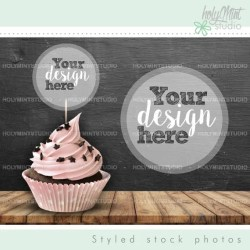 Cupcake Mockup Food Mockup Stock Photos Party Styled Stock Etsy