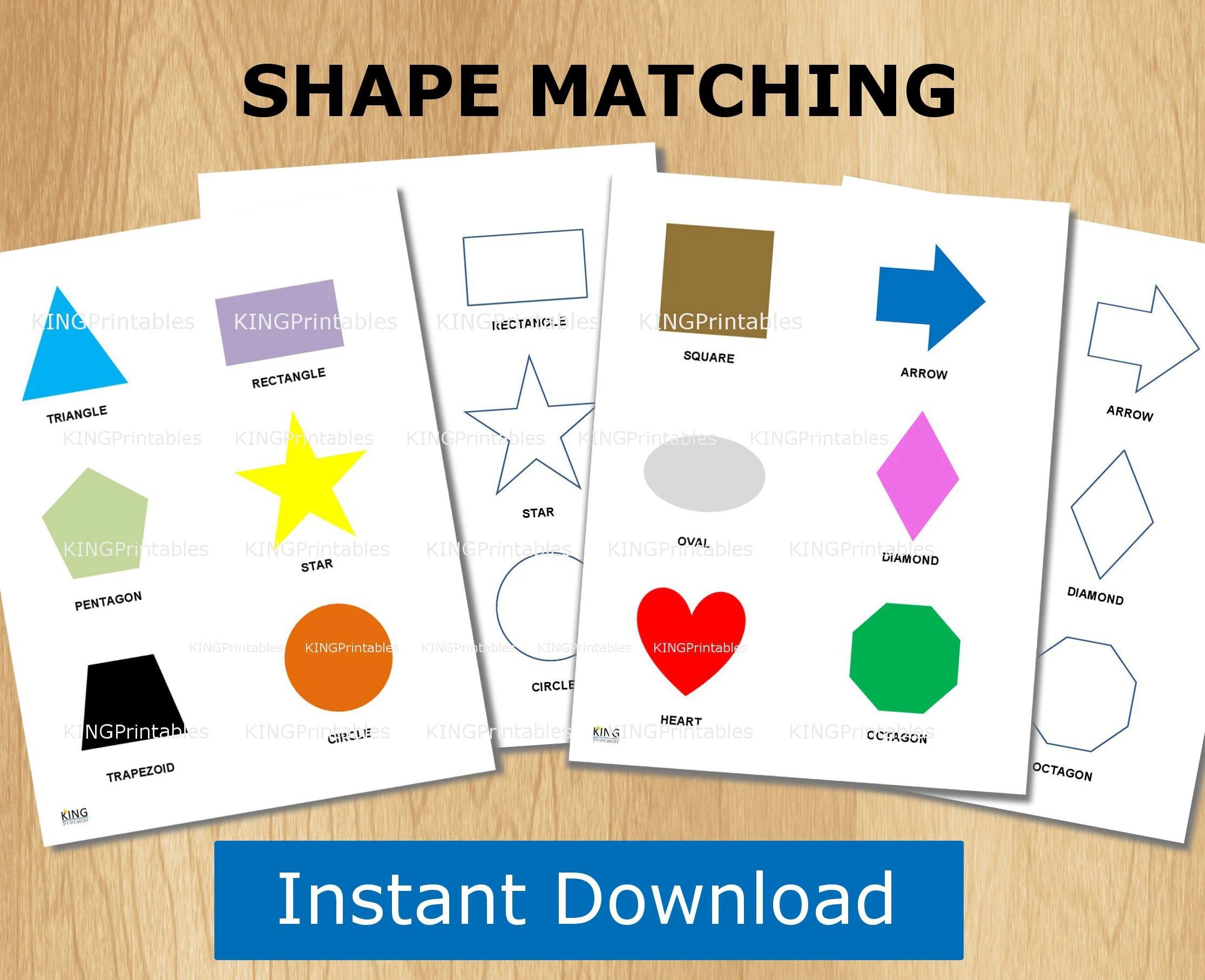 Shape Puzzle Toddler Learning Printable File Folder Games