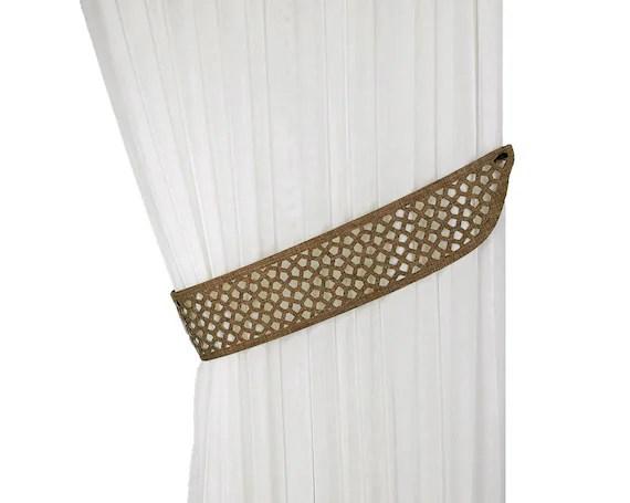 curtain tiebacks laser cutting ties drapery tiebacks curtain decor home decor tie backs perforated decor unusual curtain tie back