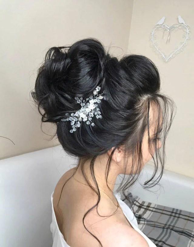 bridal crystal hair comb, silver or gold wedding hair jewelry, bridesmaid hair piece, wedding beaded headpiece, bridal crystal hairpiece