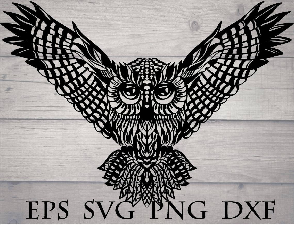 Download Zentangle owl svg / owl for cricut, owl cricut design, owl ...