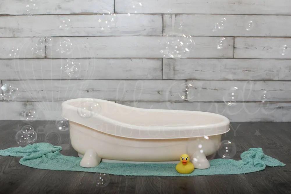 Baby Bath Digital BackdropProps Newborn Photography Prop