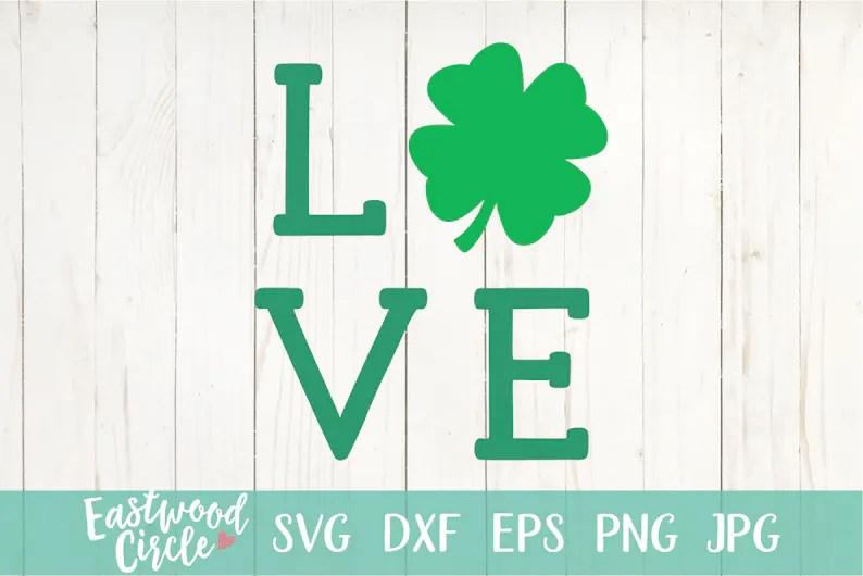 Download Love Shamrock svg Shamrock Love svg St. Patrick's Day | Etsy