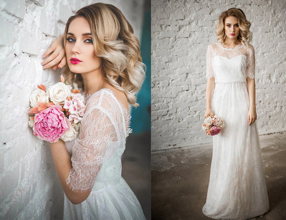 Lace Wedding Dress Vintage Wedding Dresses Modest Wedding