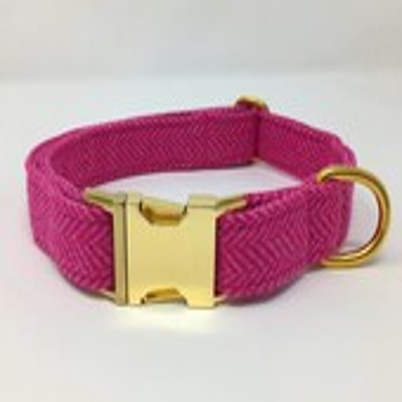 Small Pink Herringbone Tw...