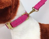 Large Pink Herringbone Tw...