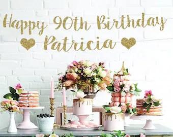 Happy 90th Birthday Etsy