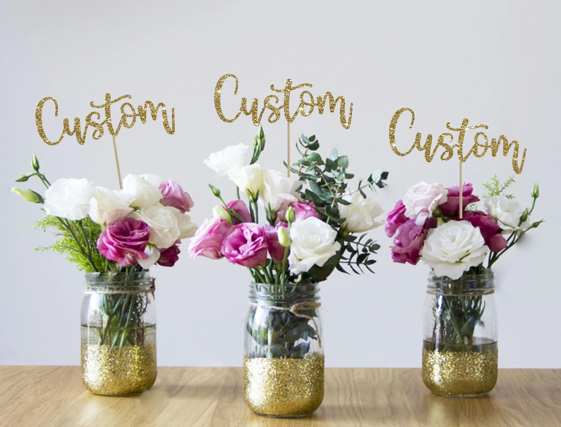 50th Centerpieces Etsy