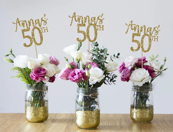 50th Birthday Centerpieces