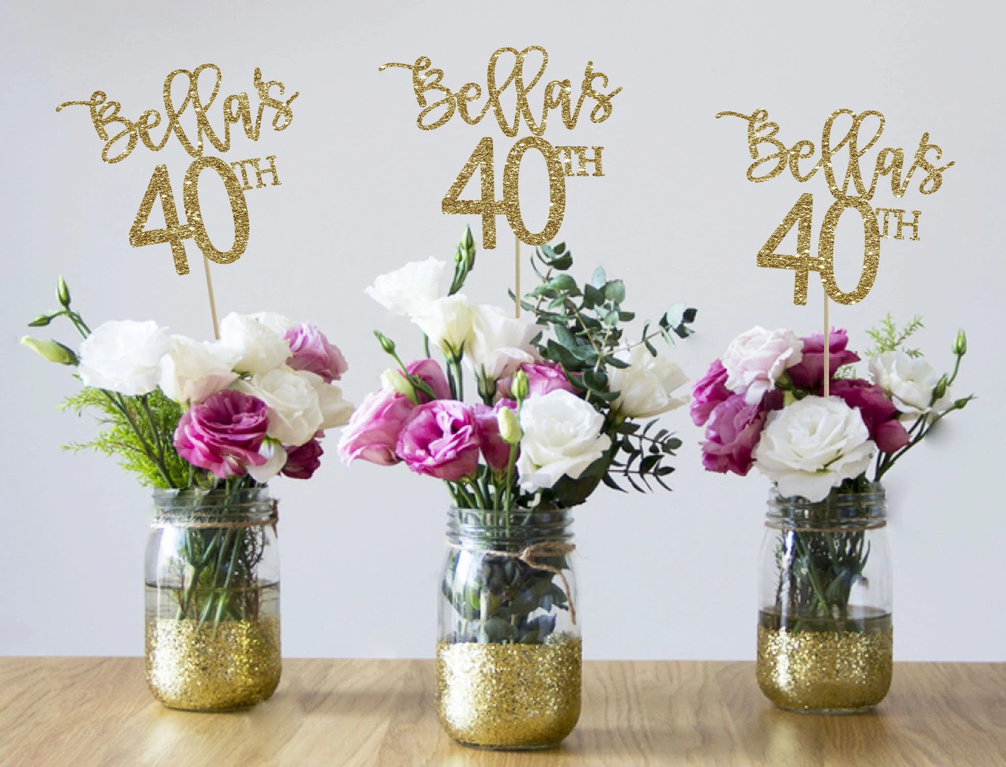 40th Birthday Centerpieces 40th Centerpieces 40th Birthday Etsy