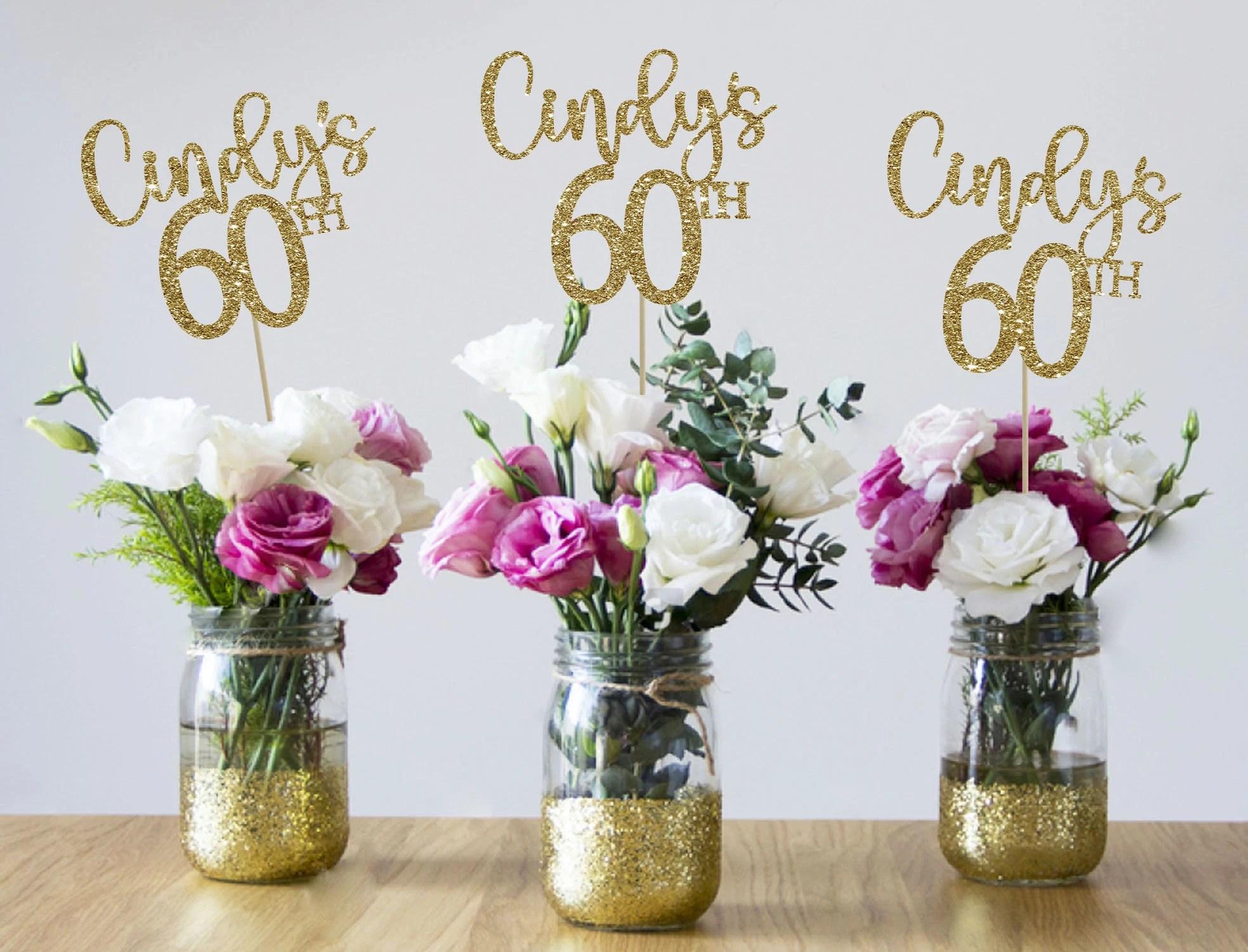 60th Birthday Centerpieces