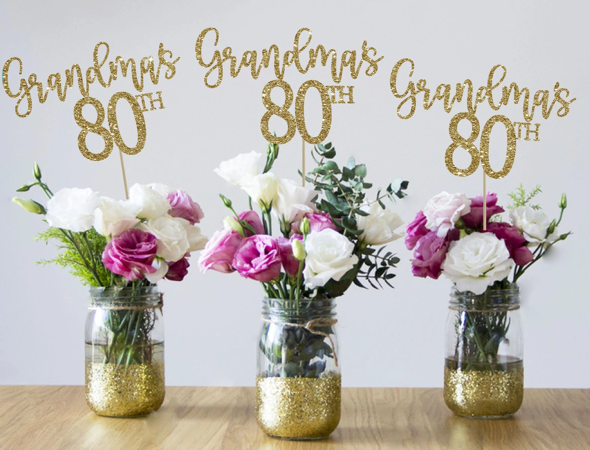 80th Birthday Centerpieces 80th Centerpieces 80th Birthday Etsy