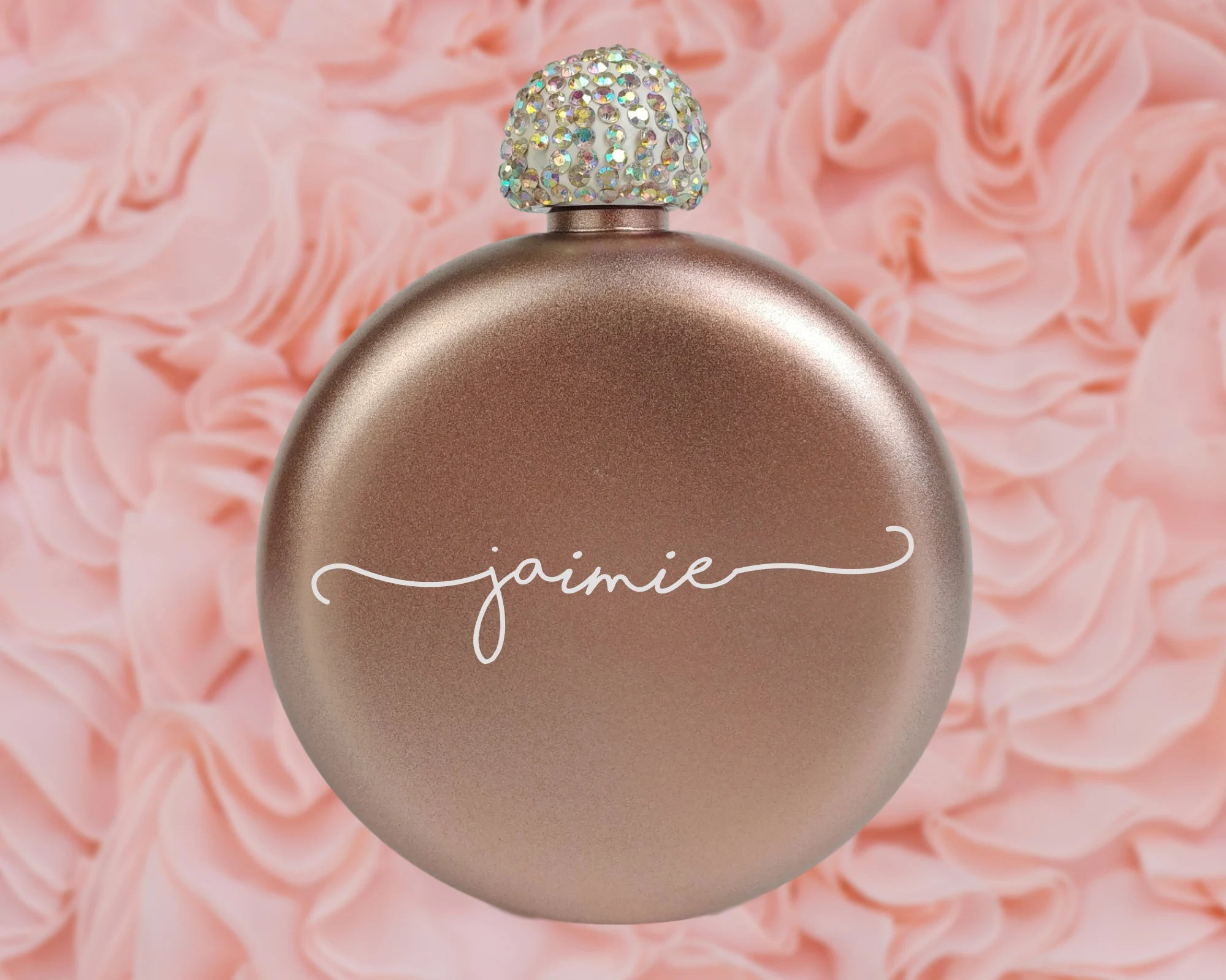 Flask for Women Engraved Flask Bridesmaid Gift Personalized Rose gold