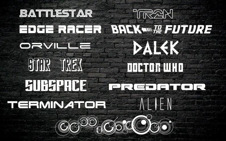 Download Fandom Font Pack 13 SciFi Fonts 80 Font Variations Digital ...