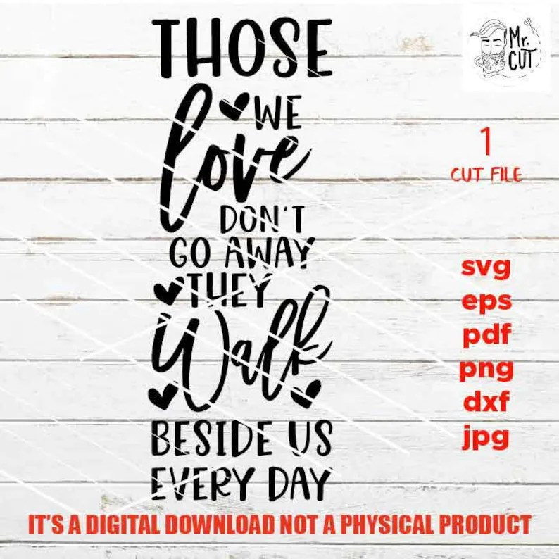 Download Those we love cut files Christmas Quote SVG Dxf Eps Png   Etsy