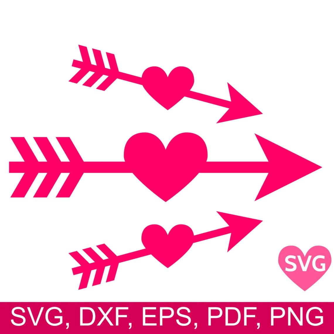 Download 3 Heart Arrow SVG files Arrow Through Heart SVG Love Arrow ...