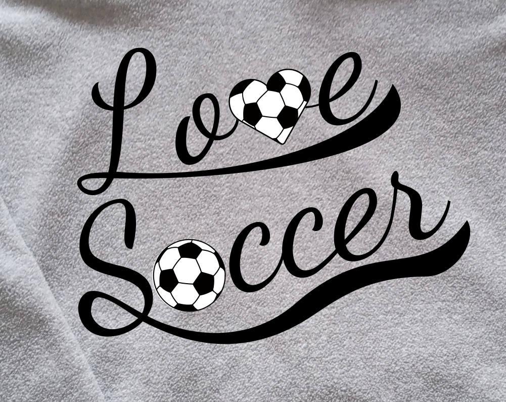 Download Love Soccer SVG Design - SVG Soccer Love cut file for ...