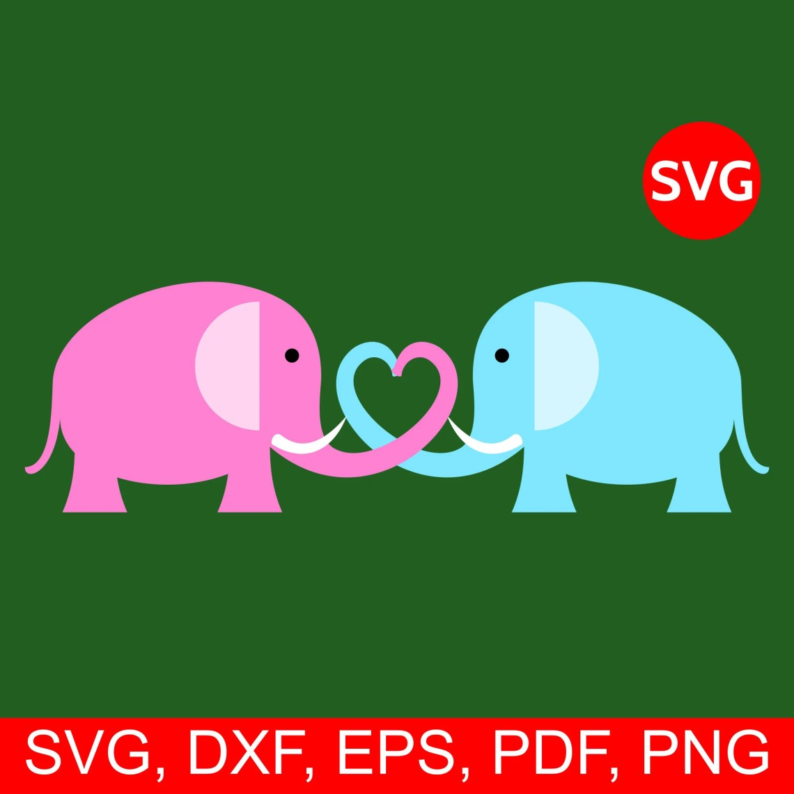 Download A lovely Elephant couple making a heart with their trunks ...