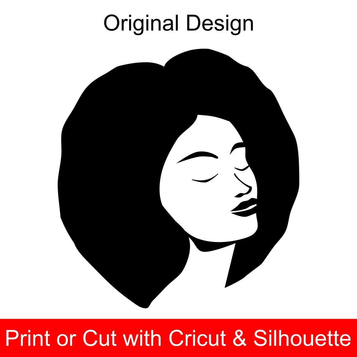 Download Afro Woman SVG File for Cricut and printable clipart ...