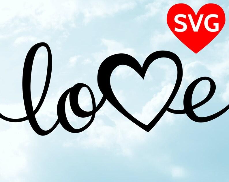 Download Love SVG Valentine's Day SVG Handwritten Love with Heart ...