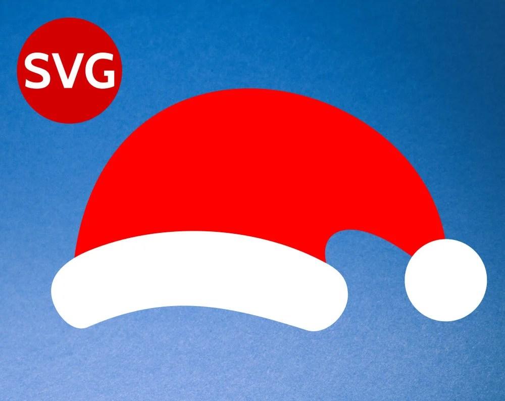 Santa Hat SVG For Cricut Amp Silhouette Santa Hat DXF PNG
