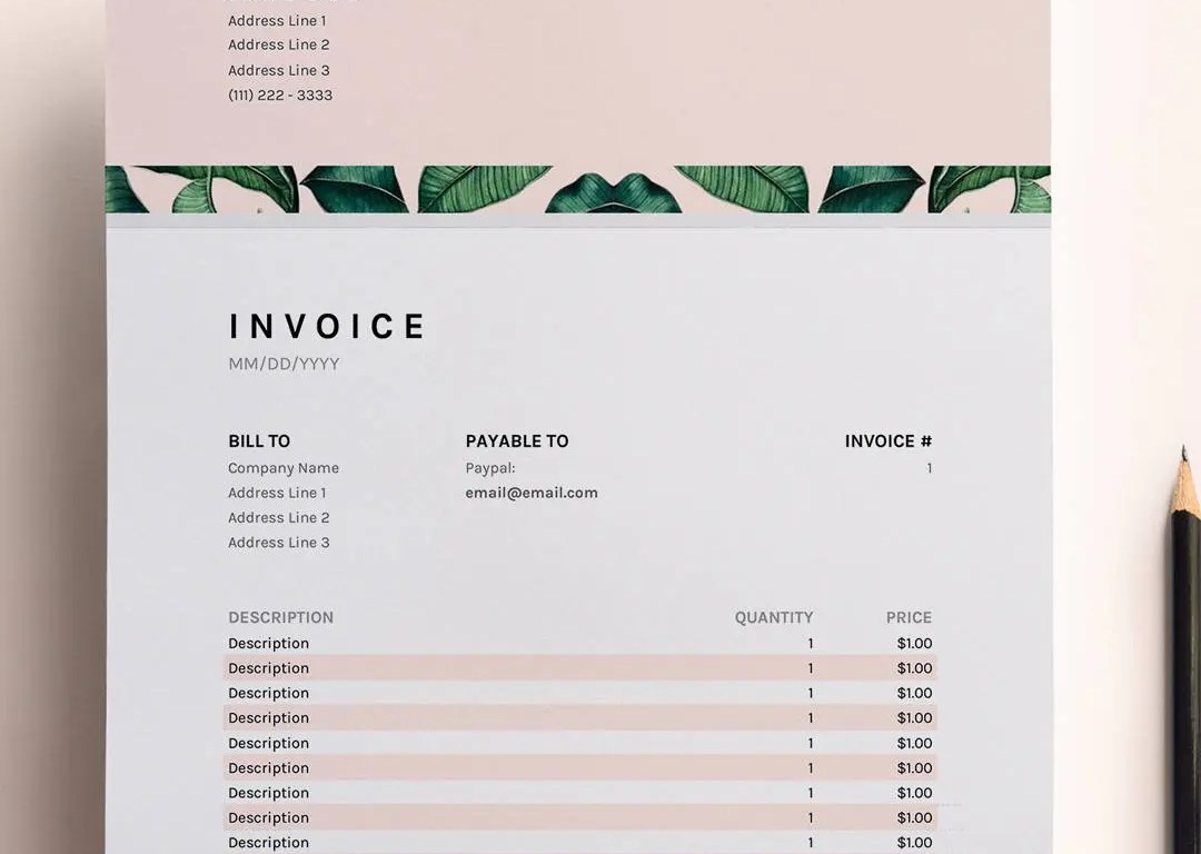HD Decor Images » Invoice Template Business Invoice Spreadsheet Google Sheets   Etsy image 0