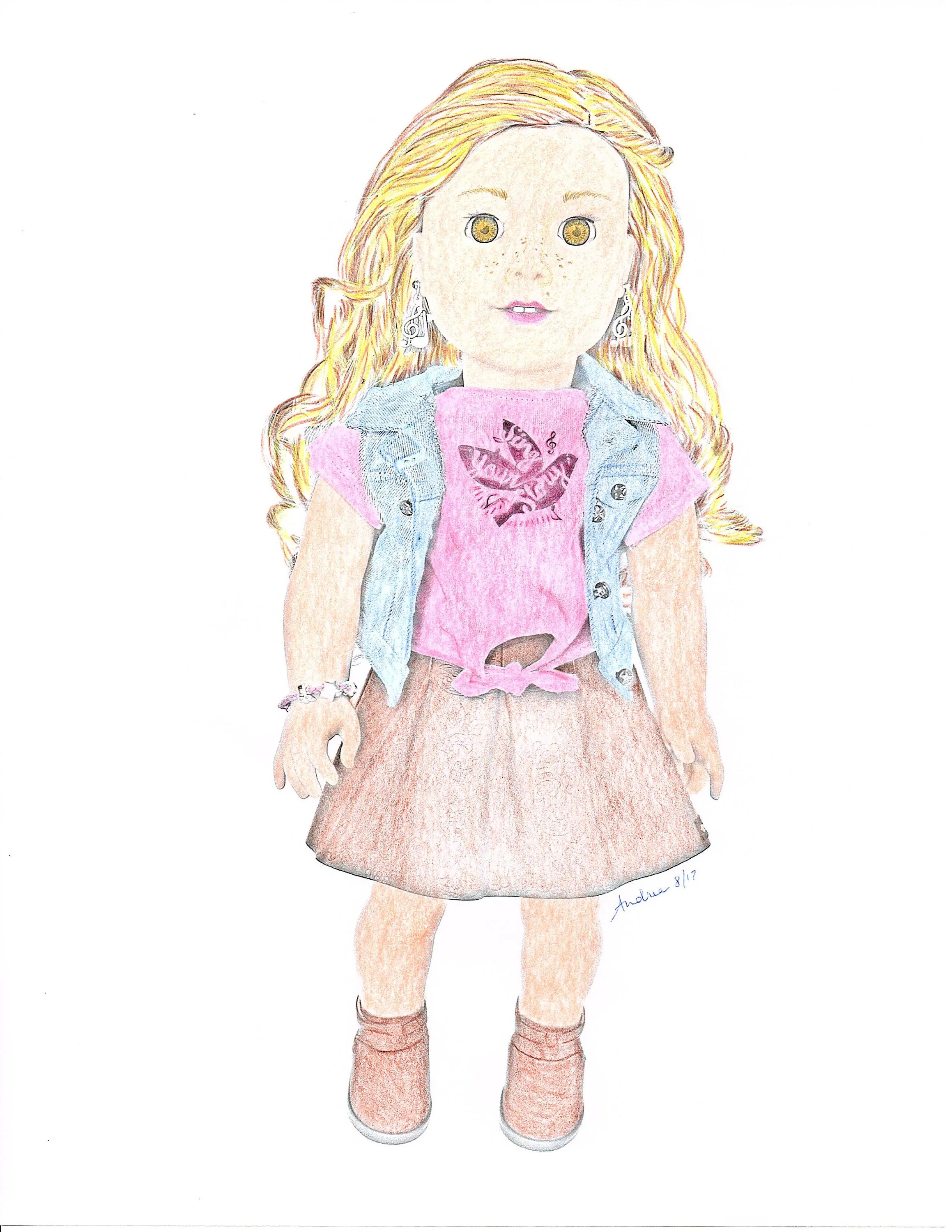 American Girl Doll Coloring Pages Tenney Grant Doll