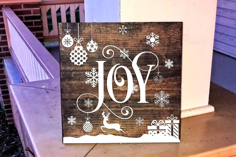 Download Joy Christmas SVG Cut File Joy Christmas SVG Cricut | Etsy