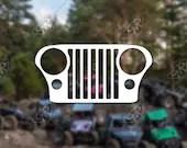 DECAL - [Jeep CJ Grill] -...