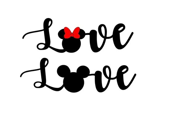 Download Love Minnie Mouse SVG DXF PNG included design for cricut ...