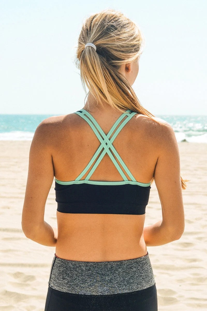 Strappy Two-Tone X-Back S...