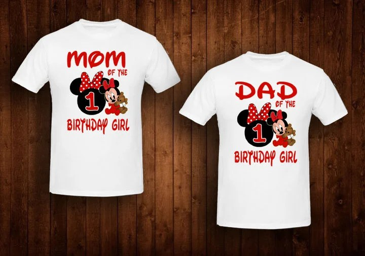 Family Shirts Red Baby Minnie Mouse Birthday Theme Mom Of The Etsy
