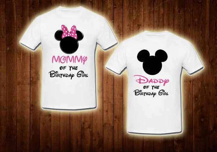 Family Shirts Pink Minnie Mouse Birthday Theme Mom Of The Etsy